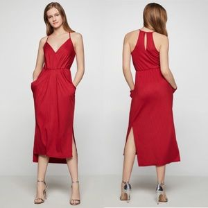 BCBGeneration Sleeveless Surplice Midi Dress